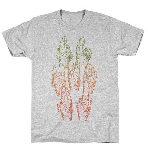 Healing Yoga Mudras T-Shirt