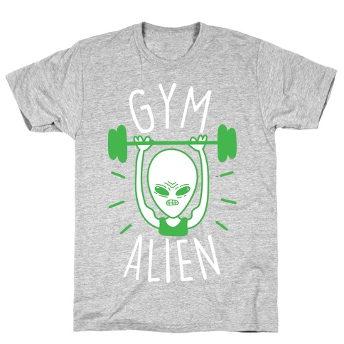 Gym Alien Lifting Mens T-Shirt