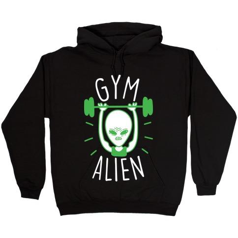 Gym Alien Lifting Hooded Sweatshirt