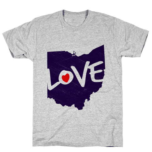 Love Ohio Mens T-Shirt
