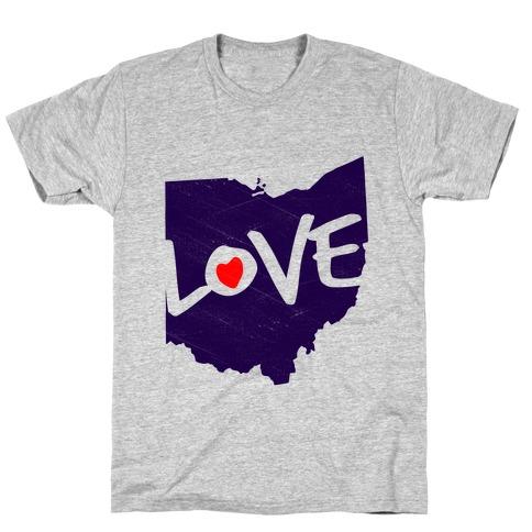 Love Ohio Mens T-Shirt