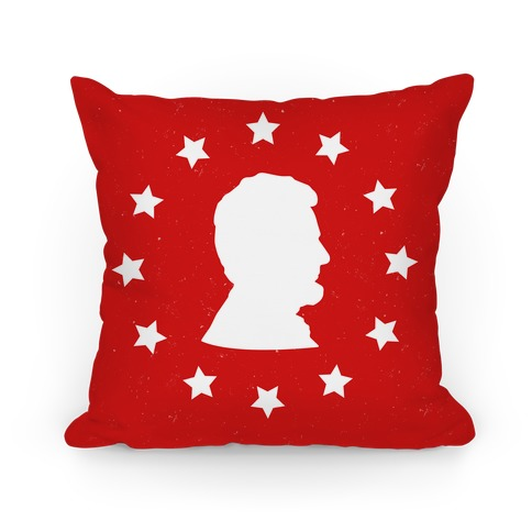 Abraham Lincoln Silhouette Pillow