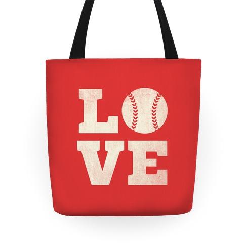 Love Baseball Tote Tote