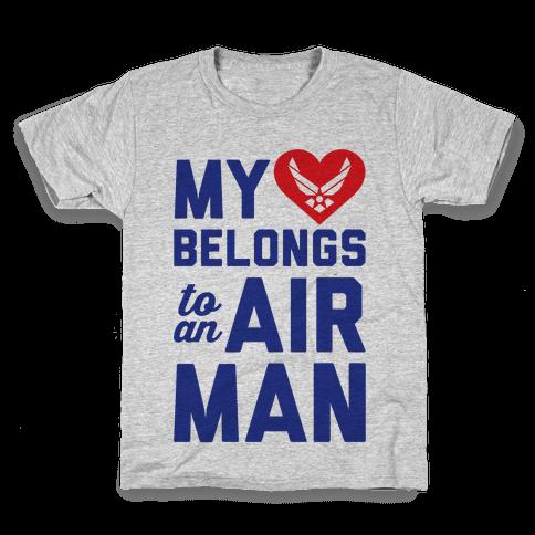 My Heart Belongs To An Airman Kids T-Shirt