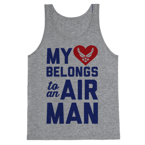 My Heart Belongs To An Airman Tank Top