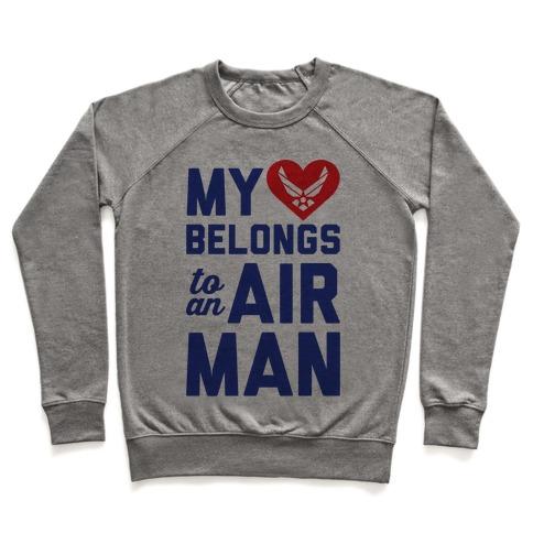 My Heart Belongs To An Airman Pullover