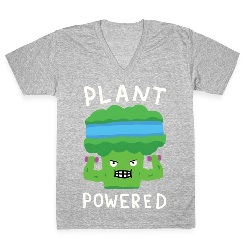 Plant Powered V-Neck Tee Shirt