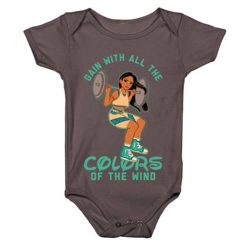 Gain with all the Colors of the Wind Pocahontas Parody Baby One-Piece