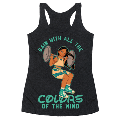 Gain with all the Colors of the Wind Pocahontas Parody Racerback Tank Top