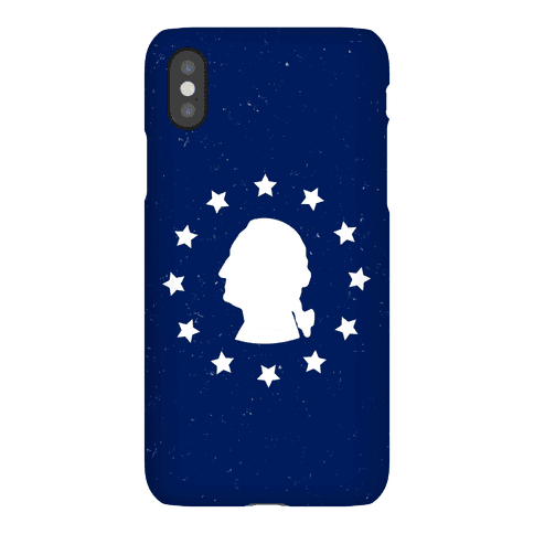 George Washington Silhouette Phone Case