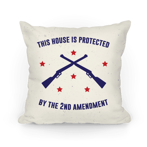 This House Is Protected By The Second Amendment Pillow