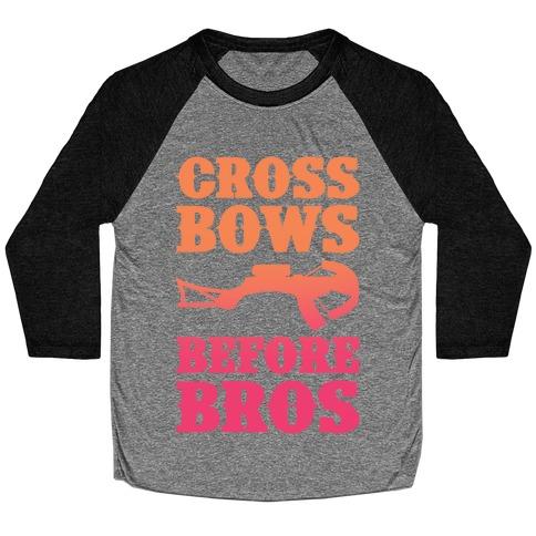 Crossbows Before Bros Baseball Tee