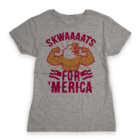 16f09e48e28521 Skwaaaats For  Merica Womens T-Shirt