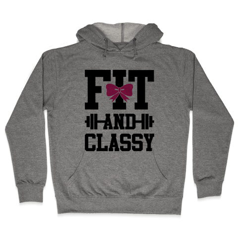 Fit And Classy Hooded Sweatshirt