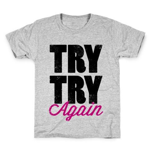 Try Try Again (Tank) Kids T-Shirt