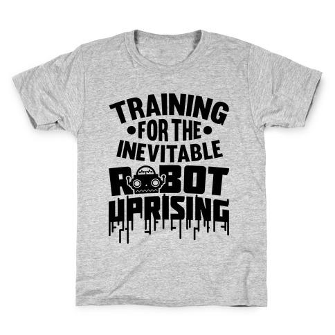 Training For The Inevitable Robot Uprising Kids T-Shirt