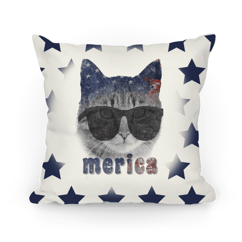 Merica Cat Pillow