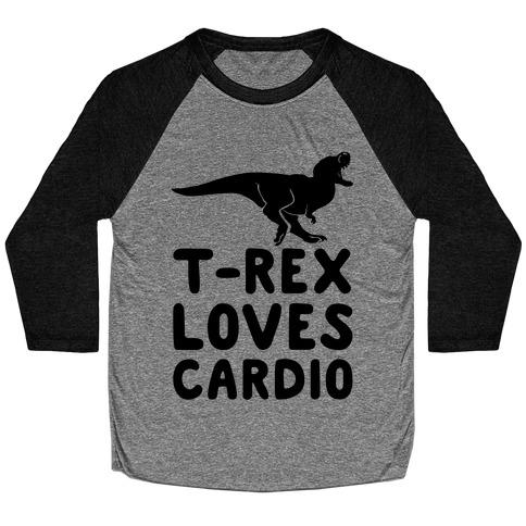 T-Rex Loves Cardio Baseball Tee