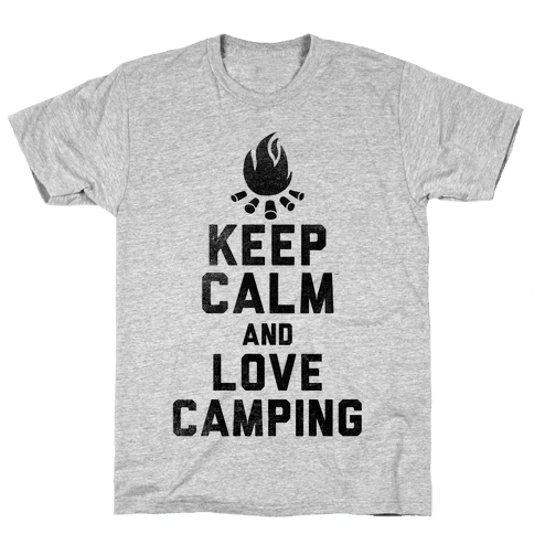 Keep Calm and Love Camping Mens T-Shirt