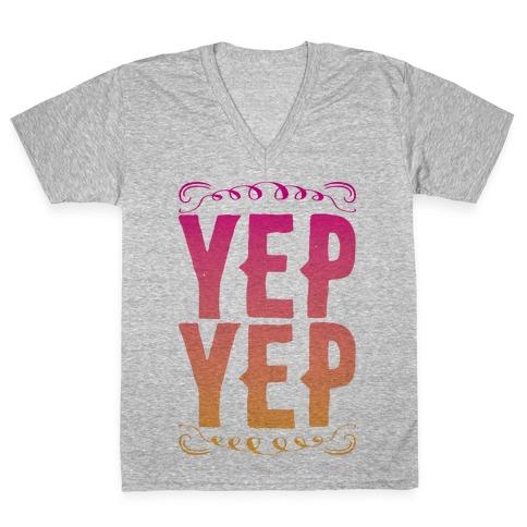 Yep Yep V-Neck Tee Shirt