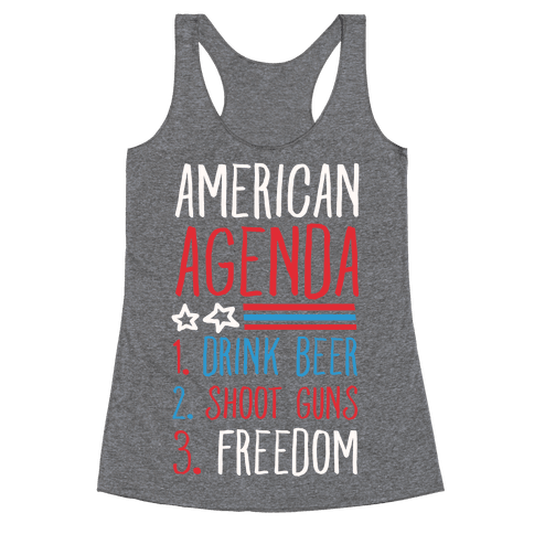 American Agenda Racerback Tank Top