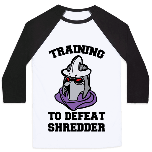 Training To Defeat Shredder Baseball Tee