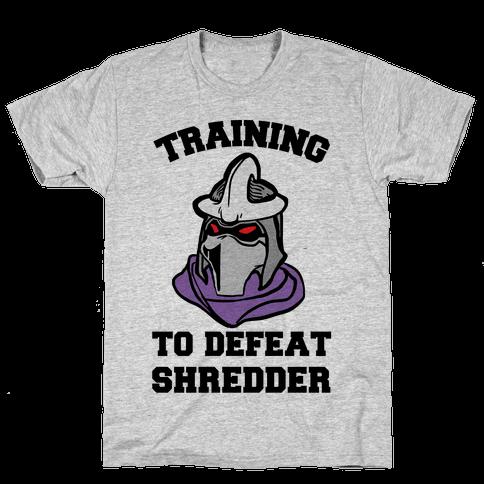 Training To Defeat Shredder Mens T-Shirt