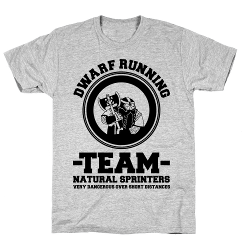 Dwarf Running Team Mens T-Shirt