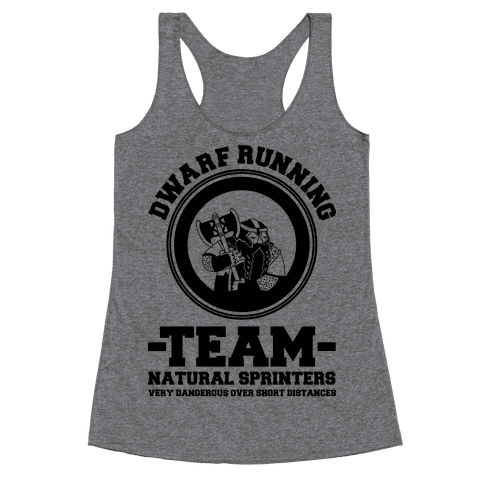 Dwarf Running Team Racerback Tank Top