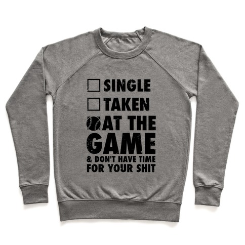 At The Game & Don't Have Time For Your Shit (Baseball) Pullover