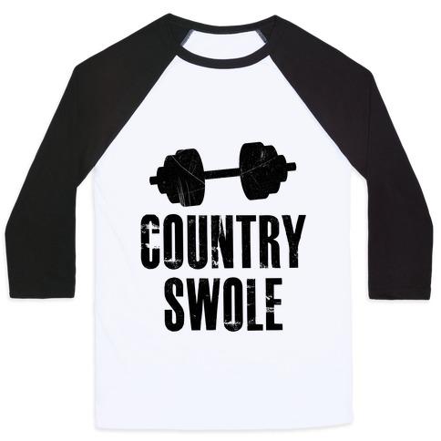 Country Swole Baseball Tee