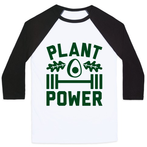 Plant Power Baseball Tee