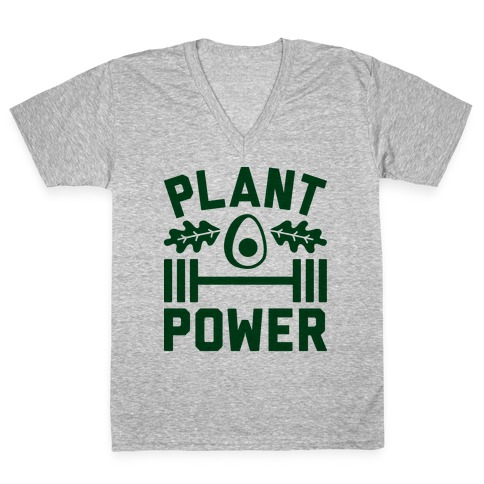 Plant Power V-Neck Tee Shirt