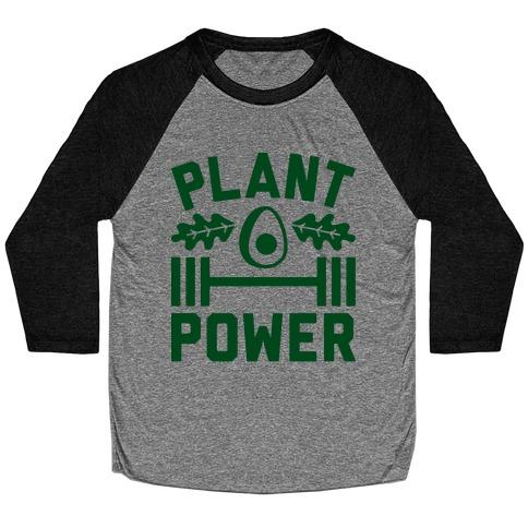 Plant Power Baseball Tee