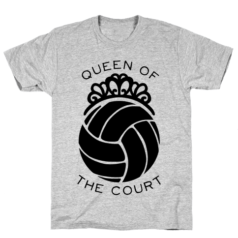 Queen Of The Court (Long Sleeve) Mens/Unisex T-Shirt