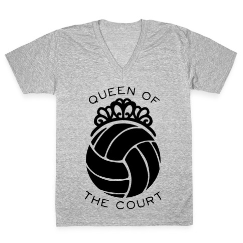 Queen Of The Court (Long Sleeve) V-Neck Tee Shirt