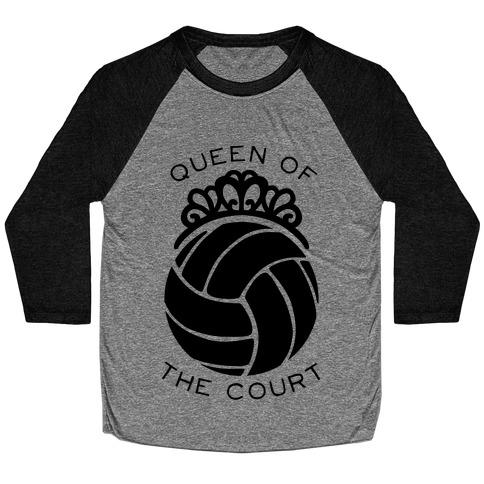 Queen Of The Court (Long Sleeve) Baseball Tee