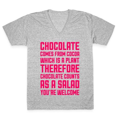 Chocolate Salad V-Neck Tee Shirt