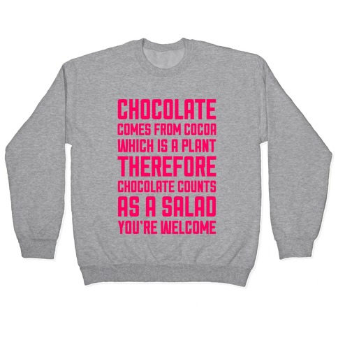 Chocolate Salad Pullover