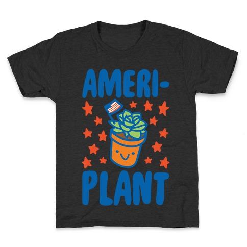 Ameriplant White Print Kids T-Shirt