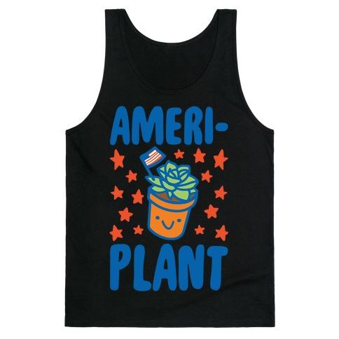 Ameriplant White Print Tank Top