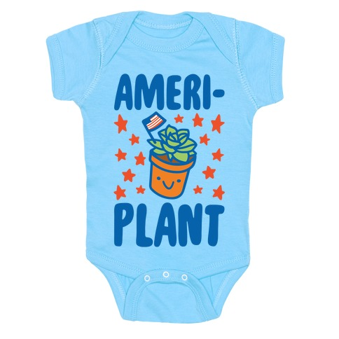 Ameriplant White Print Baby Onesy