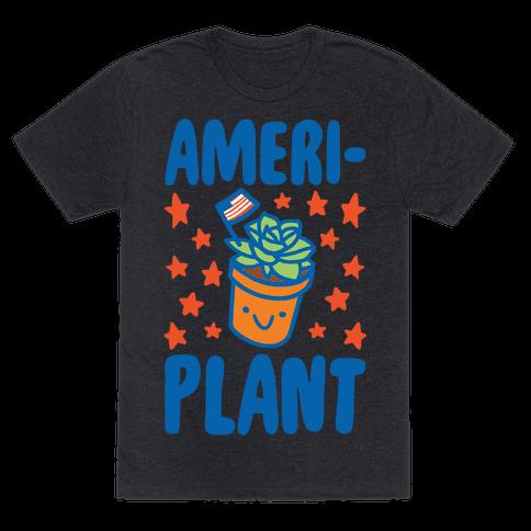 Ameriplant White Print Mens/Unisex T-Shirt