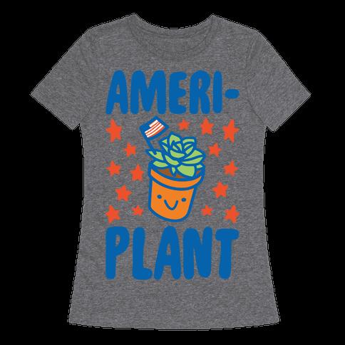 Ameriplant White Print Womens T-Shirt