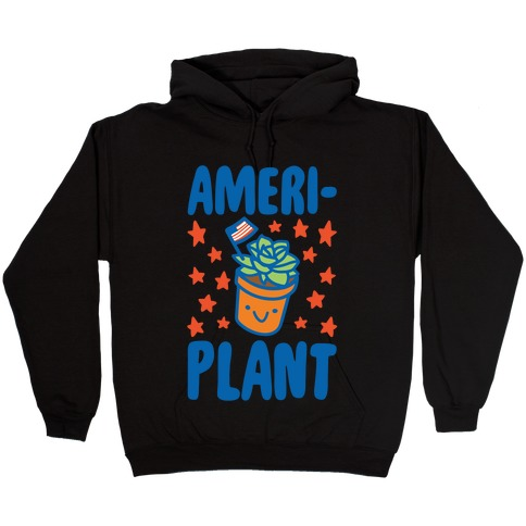 Ameriplant White Print Hooded Sweatshirt