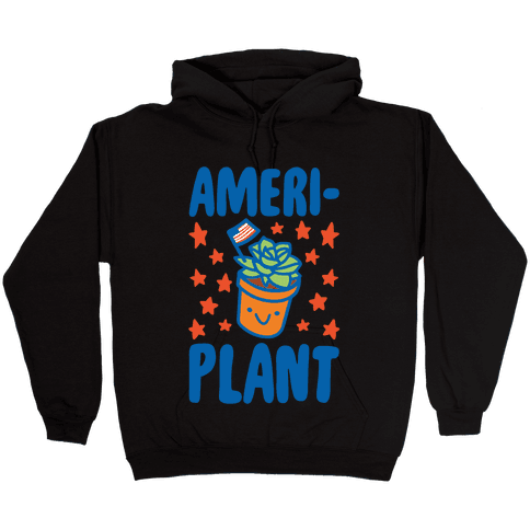 Ameriplant White Print Hooded Sweatshirt