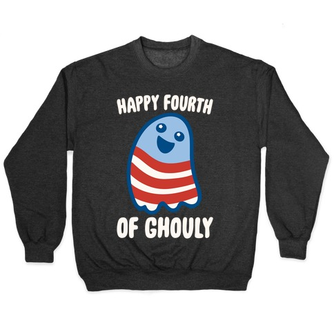 Happy Fourth of Ghouly White Print Pullover