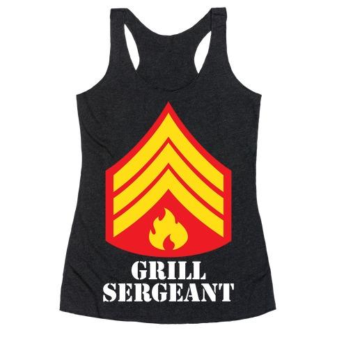 Grill Sergeant Racerback Tank Top