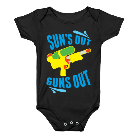 Suns Out, Guns Out Baby Onesy