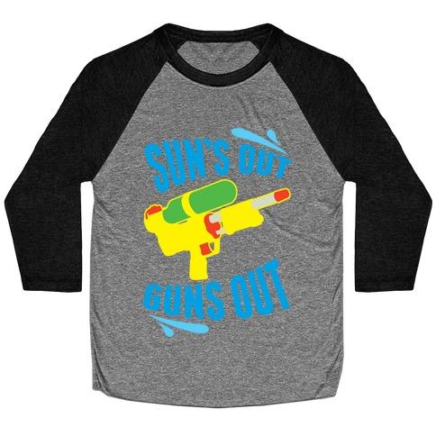 Suns Out, Guns Out Baseball Tee